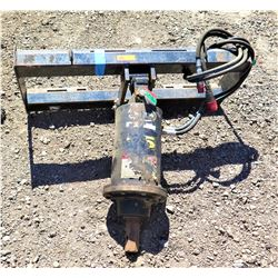Auger Attachment - Fits Skidsteer