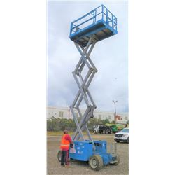 2012 Genie GS2669 Rough-Terrain Scissor Lift, 26-Ft Platform Ht, 1454 Hrs, (Runs & Works - See Video
