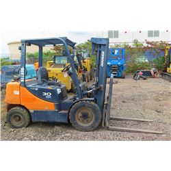 Doosan G30P-5  Forklift, 1658 Hours Engine Needs Repair