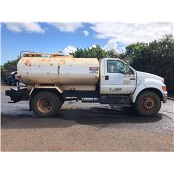 KAUAI 06 Ford F750 Water Truck 2K Gallon -Located On Kauai! (Runs, Drives, Sprays Water - See Video)