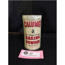 A Nice Early Harder to Find Calument Baking Powder Tin 1 Lb