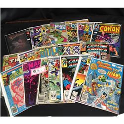 A Nice Collection of 20 Comics. Supermam. Conan.Captain America etc.