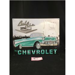"Chevrolet Bel Air Tin Sign 10"" x 12.5"""