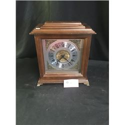 "A Nice Vintage University of British Columbia Mantle Clock Bulova Clock. 12"" x 13.5"" x 6"""