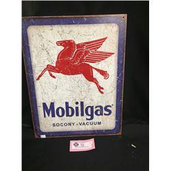 "Mobil Gas Socony-Vacuum Tin Sign 12"" x 16""  Reproduction"