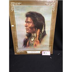 "Bill Hampton Native Print. "" Oh Great Spirit"" 16"" x 20"""