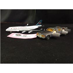 Die Cast Air Canada Plane and A 1/58 Majorette Limousine