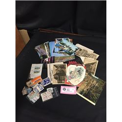 Lot of Vintage Stamps and Postcards