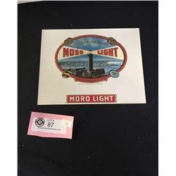 Vintage Unused Moro-Light Cigar Tobacco Box Label