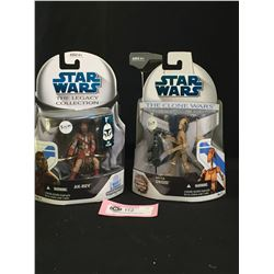 2 Star Wars Figures. New In Package. AK-Rev  Battle Droid The Legacy Collection