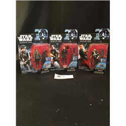 3 Star Wars Figures. Rogue One Action Figures New In Package.Jyn Enso,Sergent Jyn, Chirrut IMWE
