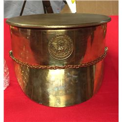 Very Big WWI Trench Art 9.5 lb Artillery Shell Made into an Officer's Hat