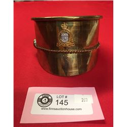 WW1-WW2 Canadian Trench Art Artillery Shell Turned into an Officer's Hat With New Brunswick Regiment