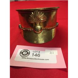 """WW1-WW2 Canadian Trench Art Artillery Shell Turned into an Officer's Hat With Artillery Cap Badge3"""""""