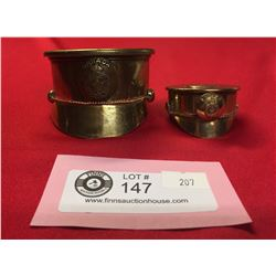 2 Pieces of WW1-WW2 Canadian Trench Art Artillery Shell Turned into an Officer's Hat With Uniform Bu