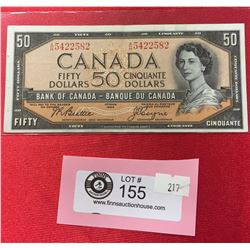 1954 $50 Bank of Canada Banknote in a Protective Sleeve