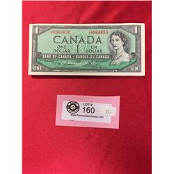 50 $1 1954 Bank Of Canada Banknotes in Sequence in Protective Holder