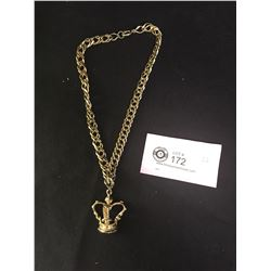 Heavy Gold Plated Crown with Necklace