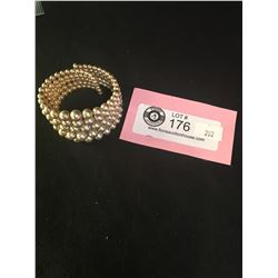 1940's Cuff Bracelet Faux Pearls