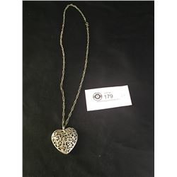Silver Heart and Necklace