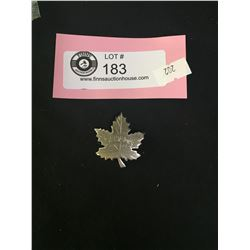 Sterling Silver Maple Leaf Canada Pin