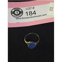 Birks Sterling Silver + Enamel Point Grey School Ring