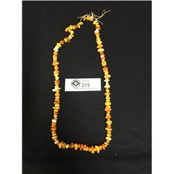 Antique Natural Amber Necklace, Needs Restringing