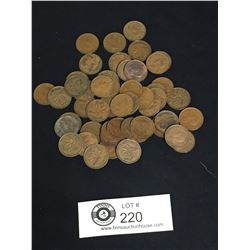Canadian George VI Pennies. 50 Pennies