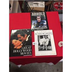 3 Hard Cover Coffee Table Books. Great Hollywood Movies,Arnold Schwartzenegger, Great Movie Moments