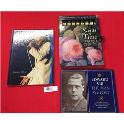3 Hard Cover Books. Celine Dion, Secrets of Time, Edward VIII