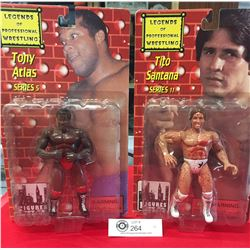 2 2000 Legends of Professional Wrestling Tony Atlas and Tito Santana New in Boxes