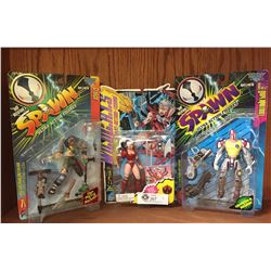 3 Action Figure Lot. All New in Packages 2 SPAWN Action Figures and WILD C.H.A.T.S Zealot