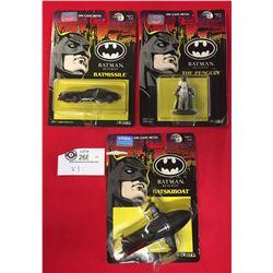 3 New In Package 1991 Die Cast Batman Figures by Ertl