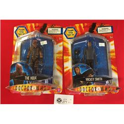 2 Early Dr. Who Action Figures New In Package. The Hoix and Mickey Smith