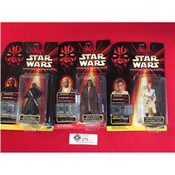 3 Star Wars Episode 1 Action Figures New In Package OBI -Wan Kenobi,Mace Windu, Darth Maul
