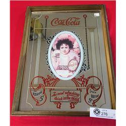 """Vintage Coca Cola Mirror. 12"""" x 15.5"""""""