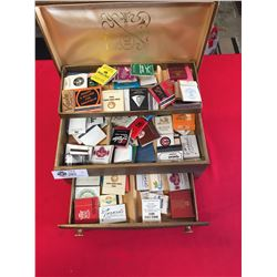 Vintage Jewelry Box Filled with Old Matchbooks