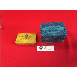2 Vintage Tobacco Tins 1950's Edgeworth Pipe Tobacco Tin and 1940;s Dill's Best Sliced Tobacco