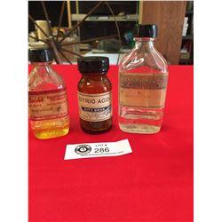 3 Vintage Pharmacutical Bottles Donaldson's Drugstore ( Revelstoke) Lack Pharmacy (Chilliwack) City