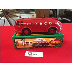 Texaco 1934 Diamand Tanker Locking Coin Bank in Original Box