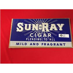 "Original 1930's SunRay Paper Sign Un-Used. Approx 17"" w"