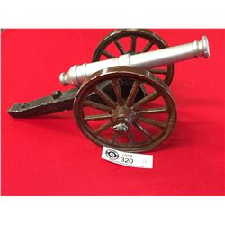 "Decorative Metal Cannon. 12""l x 5.5"" h x 5""w"