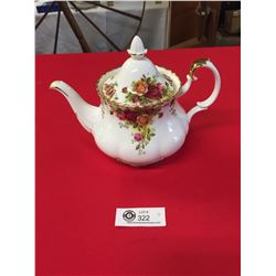 Royal Albert Fine Bone China Teapot. Old Country Rose