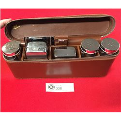 "Very Nice Businessman's Travelling Shaving Kit 11""w x 5""h x 2.5"" deep"