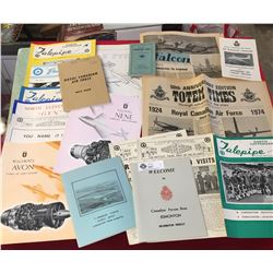 Royal Canadian Air Force Publications From Newspapers,  Materials,Note Books, Magazines 19 pieces