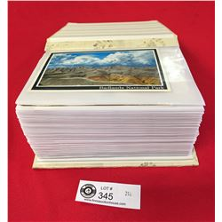 Photo Album Filled With Vintage Postcards. Over 100 Postcards