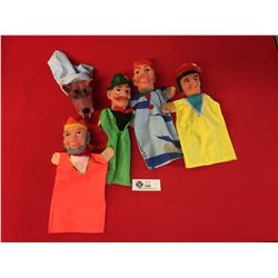 Lot 5 Vintage Hand Puppets from Germany