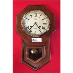 Vintage Wall Clock with Key and Pendulum 31 Day Clock