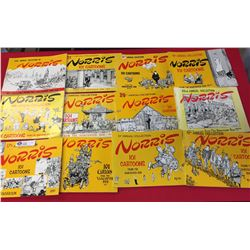 12 Books Of Cartoonist Norris From the Vancouver Sun
