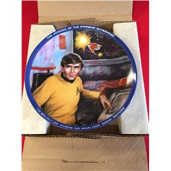 """1986 Star Trek """" Chekov"""" Collector Plate in the Box. The Voyages of the Starship Enterprise"""